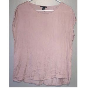 Dusty rose pink satin blouse
